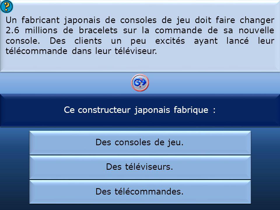 Ce constructeur japonais fabrique :
