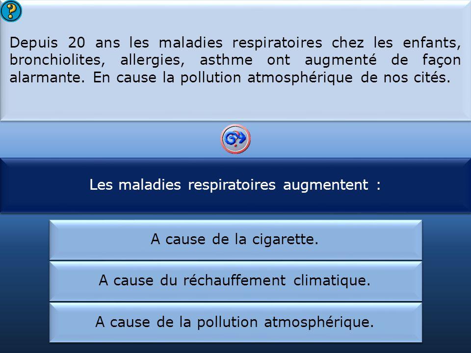 Les maladies respiratoires augmentent :