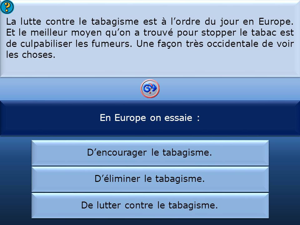 En Europe on lutte contre le tabagisme :