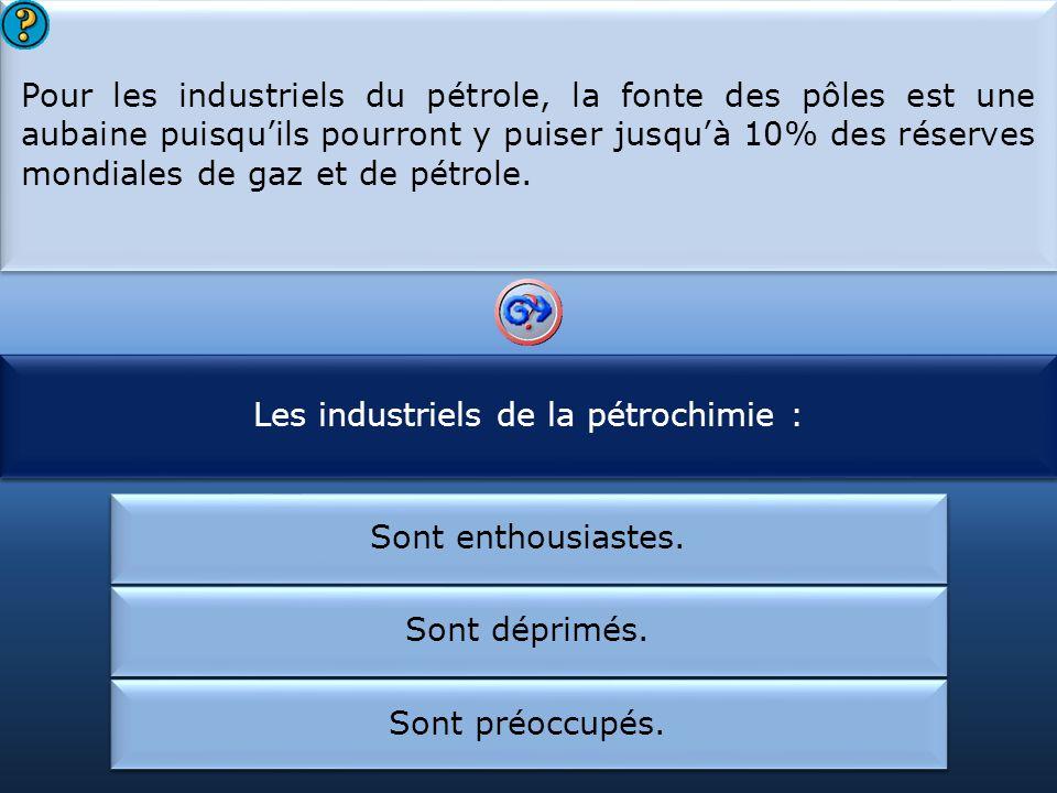 Les industriels de la pétrochimie : Les pôles renferment :