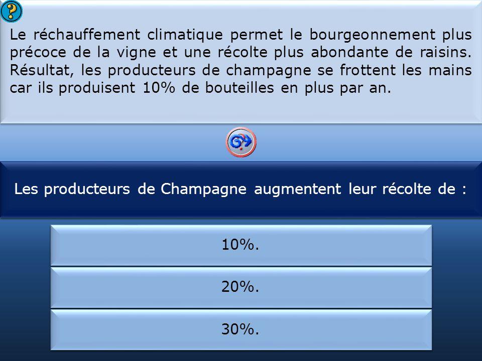 Les producteurs de Champagne augmentent leur récolte de :