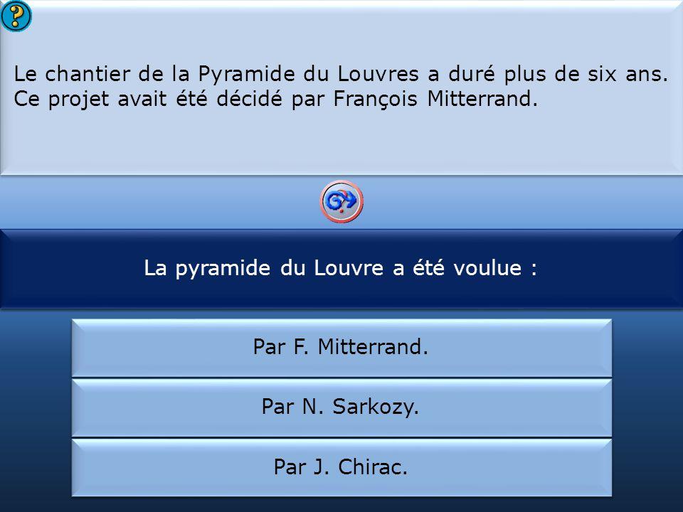 La pyramide du Louvre a été voulue :
