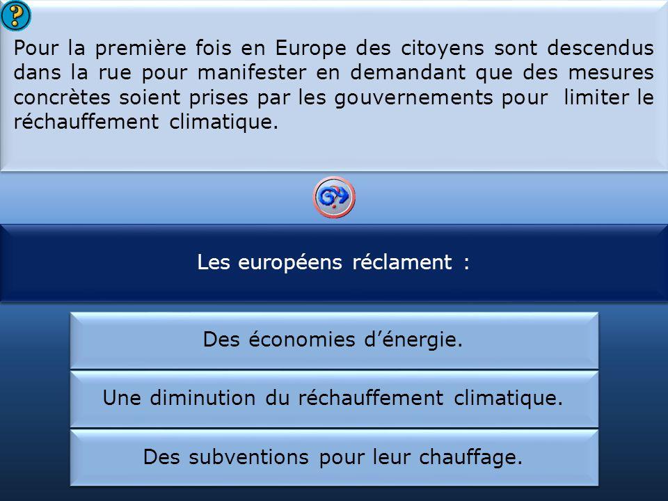 Les européens réclament : Les citoyens européens ont :