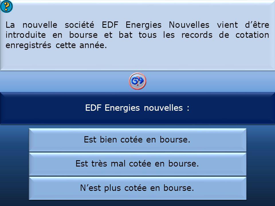 EDF Energies nouvelles : EDF a créé :