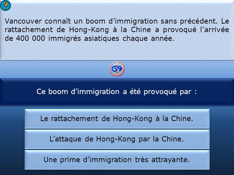 Ce boom d'immigration a été provoqué par :