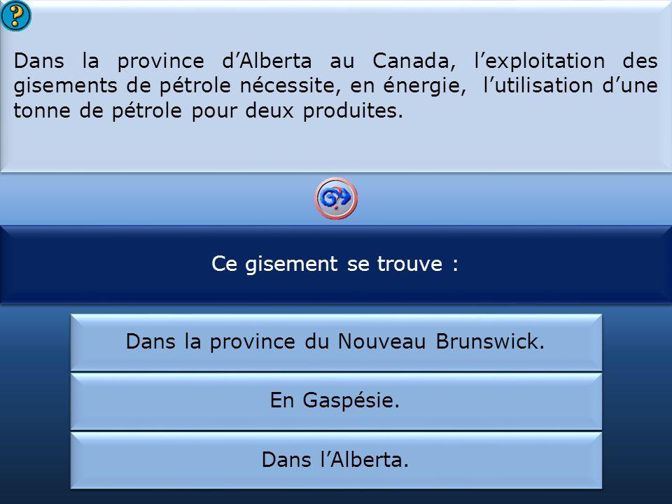 Pour produire deux tonnes de pétrole dans cette région :