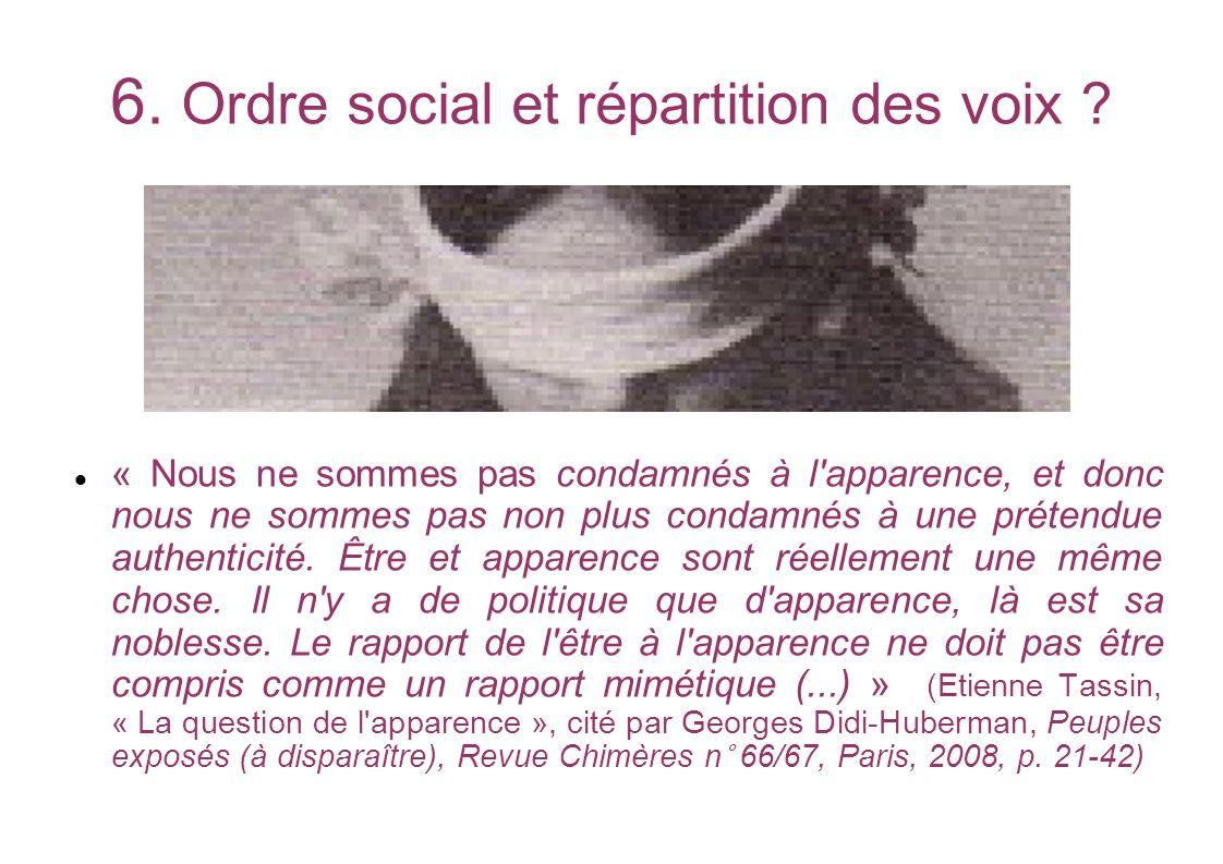 6. Ordre social et répartition des voix