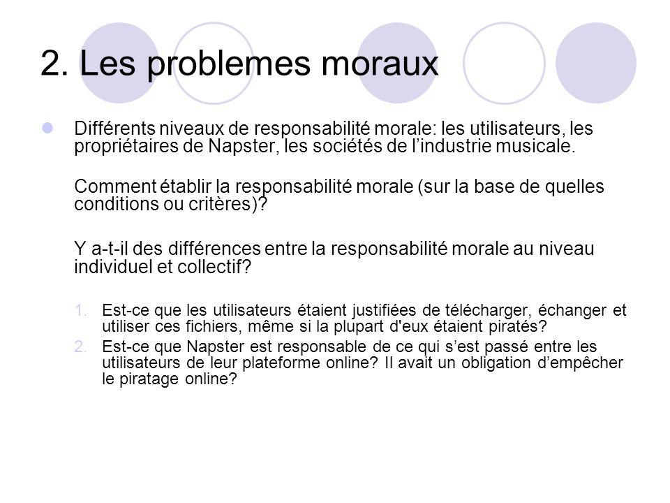 2. Les problemes moraux