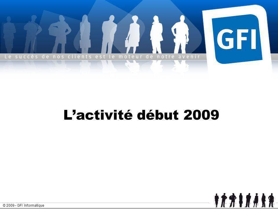 L'activité début 2009 © 2009 - GFI Informatique