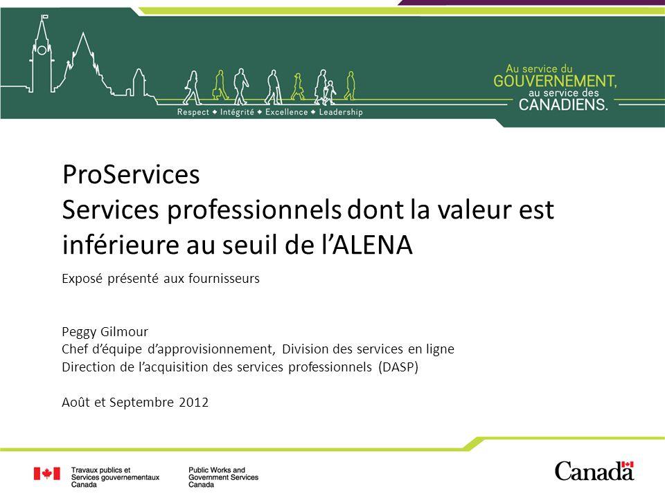Services professionnels dont la valeur est