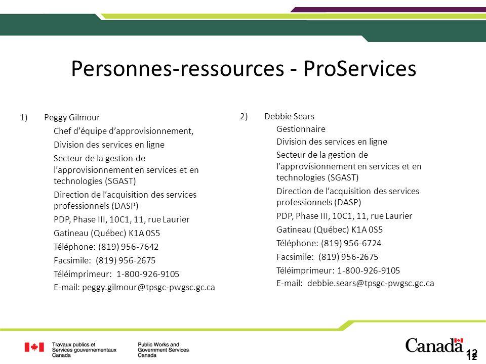 Personnes-ressources - ProServices