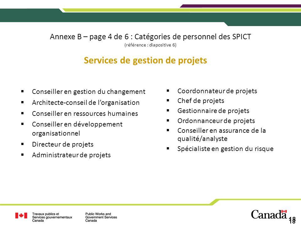 Services de gestion de projets