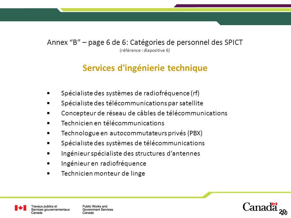 Services d ingénierie technique