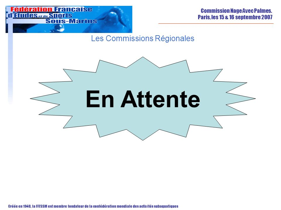Les Commissions Régionales