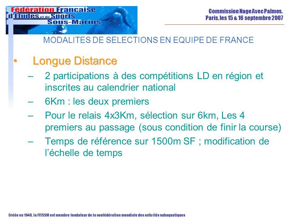 MODALITES DE SELECTIONS EN EQUIPE DE FRANCE