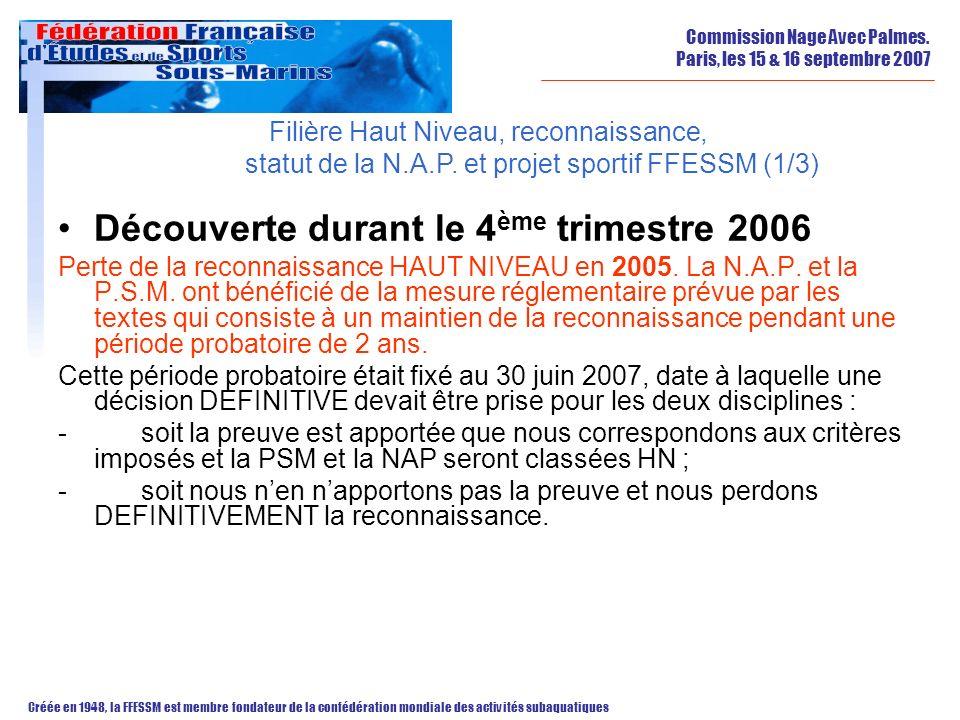 Découverte durant le 4ème trimestre 2006