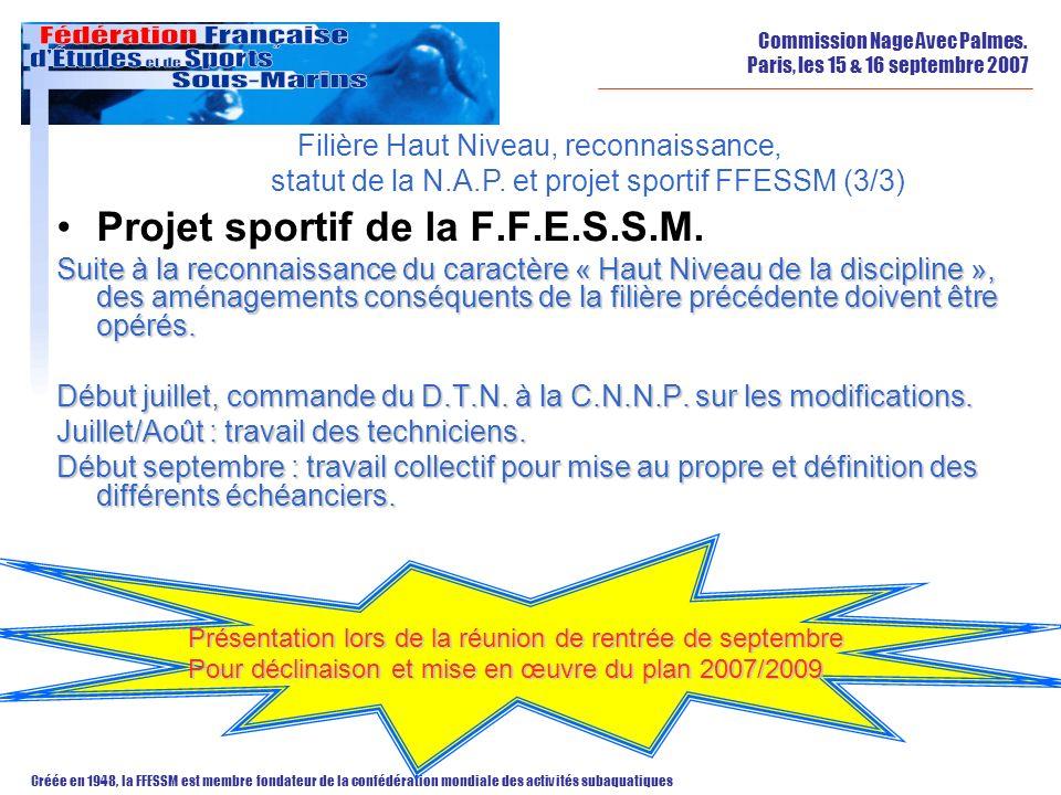 Projet sportif de la F.F.E.S.S.M.