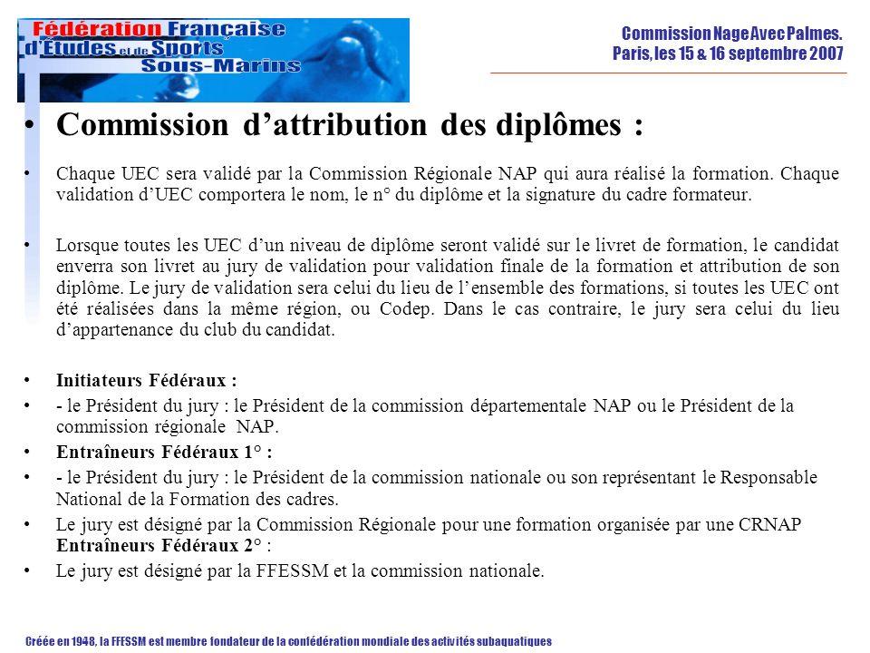Commission d'attribution des diplômes :