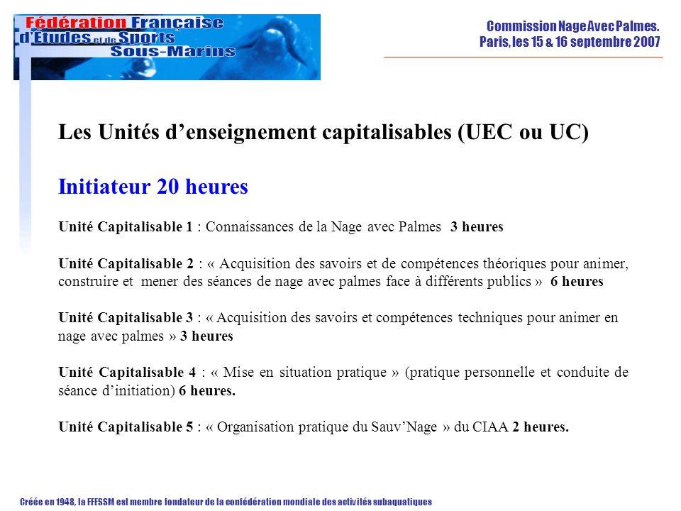Les Unités d'enseignement capitalisables (UEC ou UC)