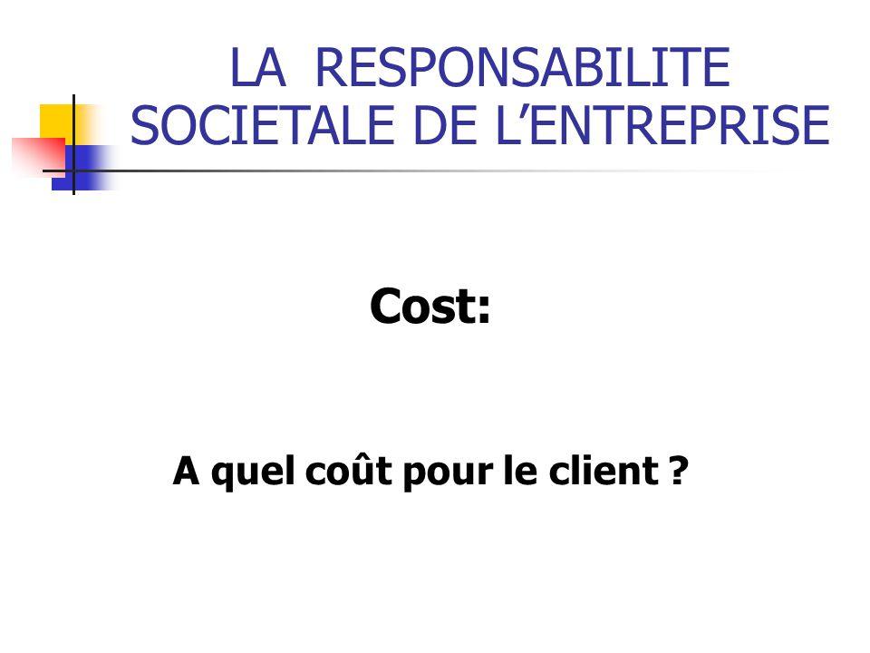 A quel coût pour le client