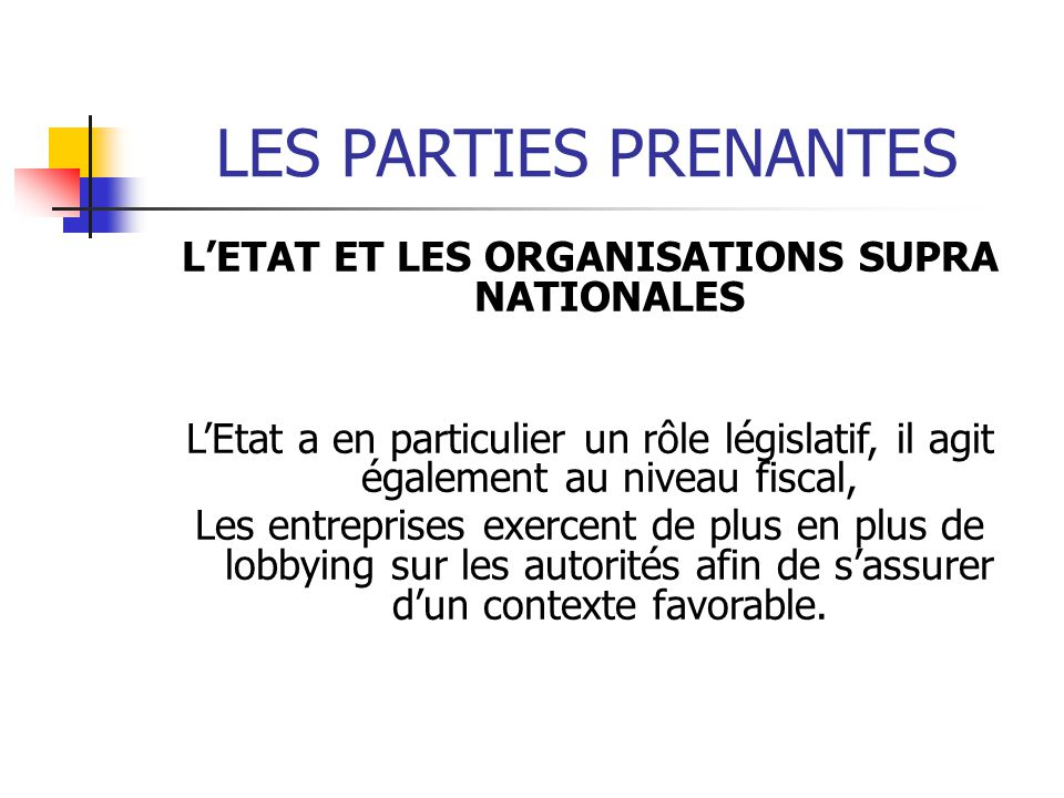 L'ETAT ET LES ORGANISATIONS SUPRA NATIONALES