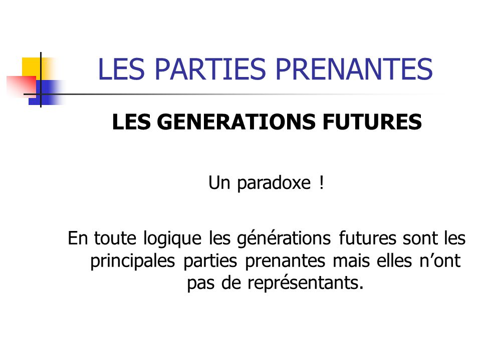 LES GENERATIONS FUTURES