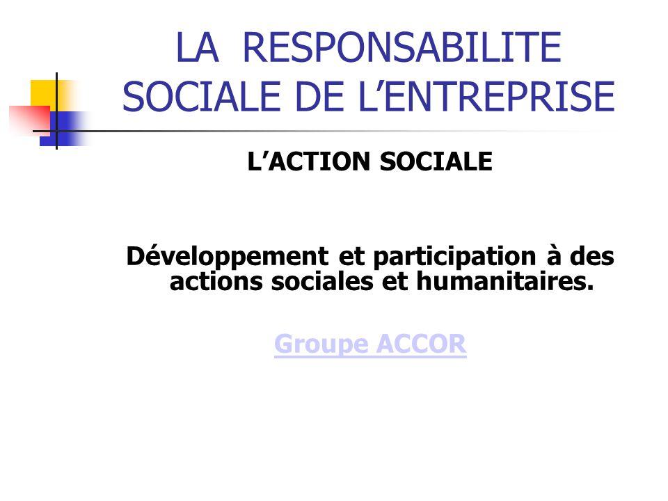 Développement et participation à des actions sociales et humanitaires.