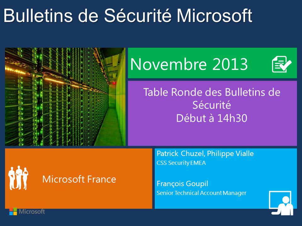 Bulletins de Sécurité Microsoft