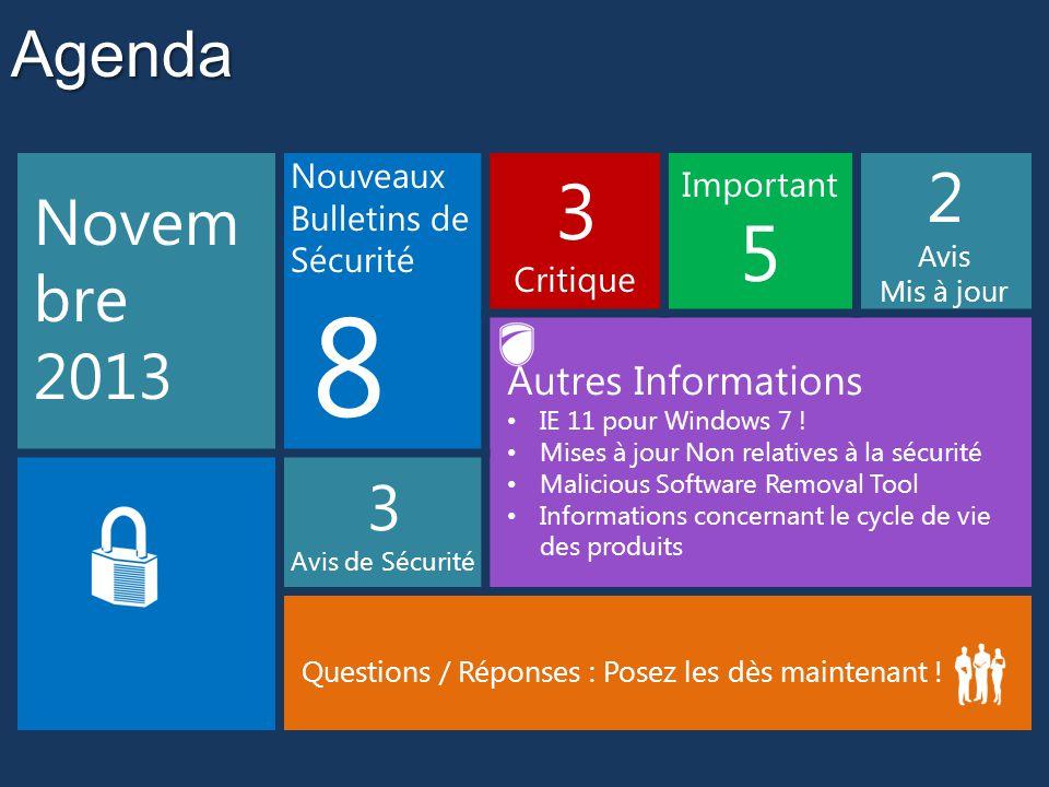 8 3 5 2 Agenda Novembre 2013 Autres Informations