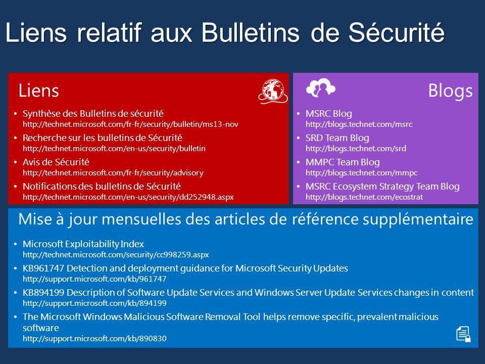 Liens relatif aux Bulletins de Sécurité