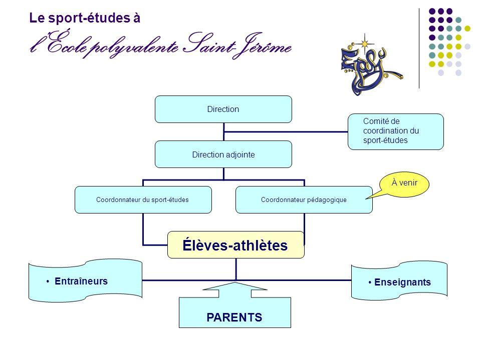 Le sport-études à l'École polyvalente Saint-Jérôme