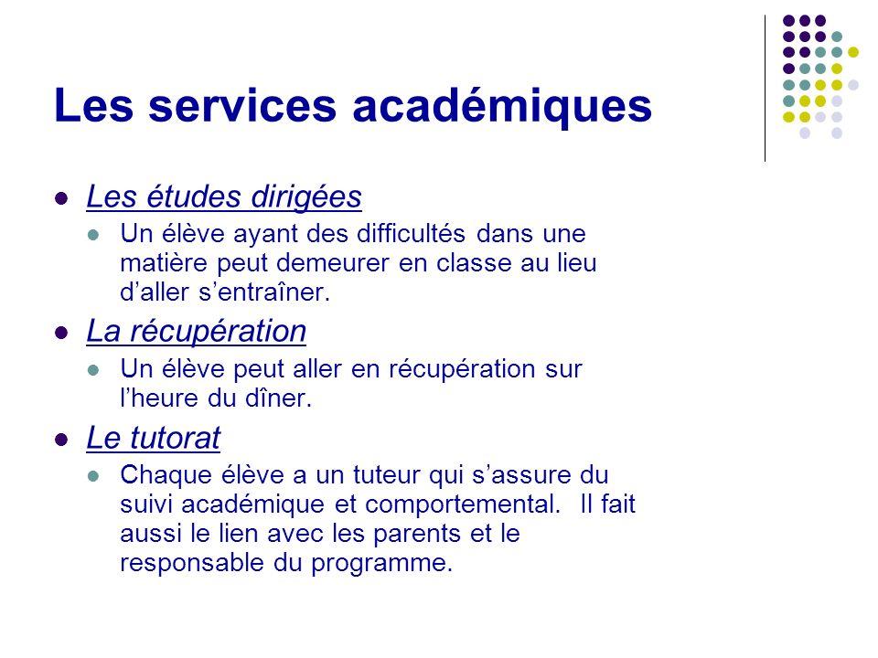 Les services académiques