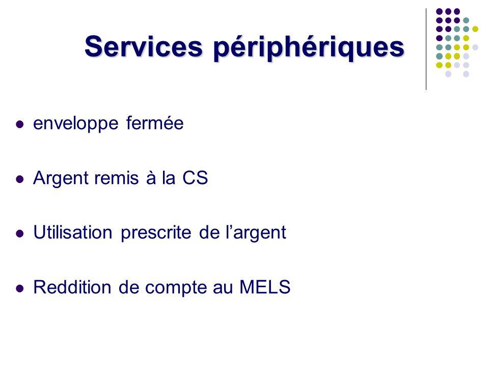 Services périphériques