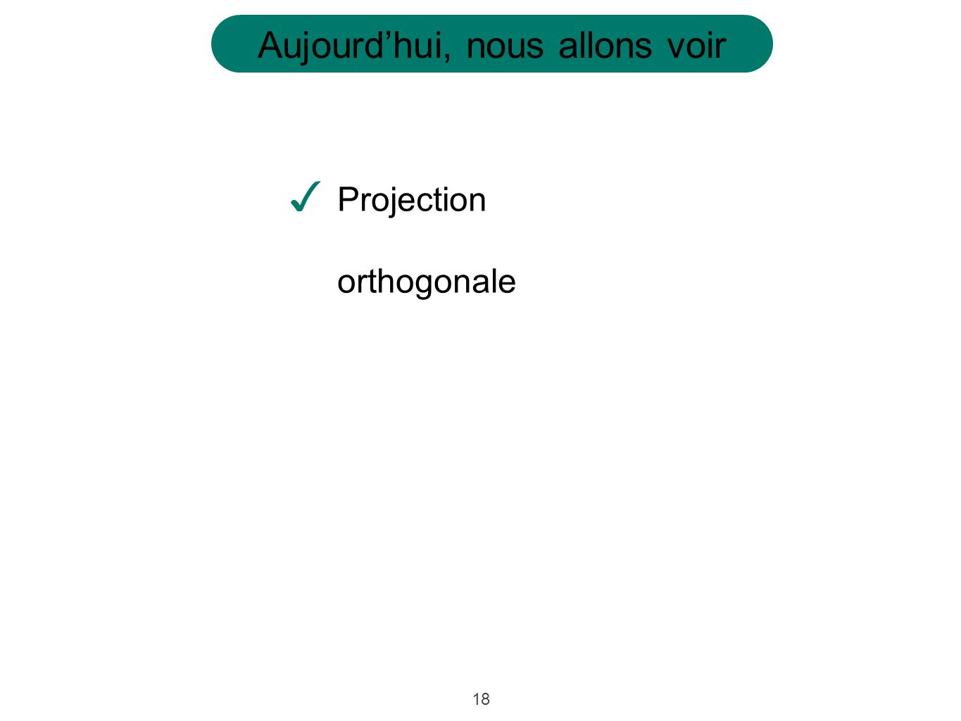 Projection orthogonale