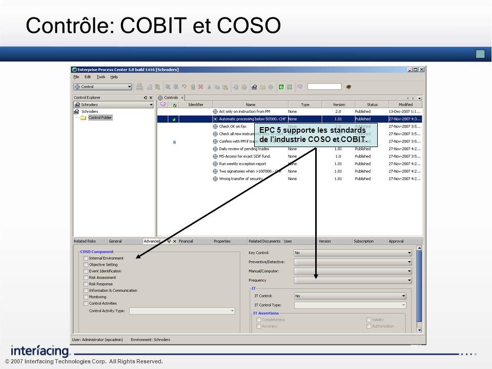 Contrôle: COBIT et COSO
