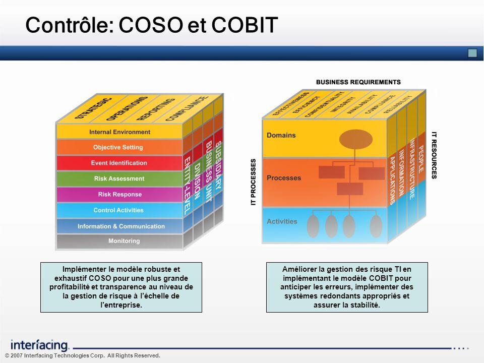 Contrôle: COSO et COBIT