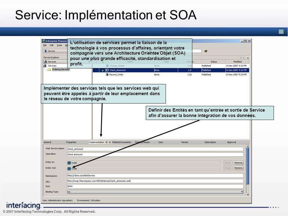 Service: Implémentation et SOA