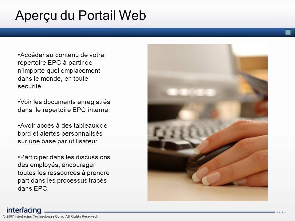 Aperçu du Portail WebAccéder au contenu de votre répertoire EPC à partir de n'importe quel emplacement dans le monde, en toute sécurité.