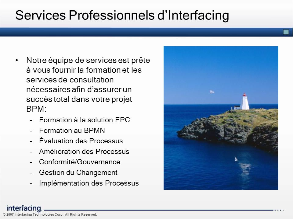 Services Professionnels d'Interfacing