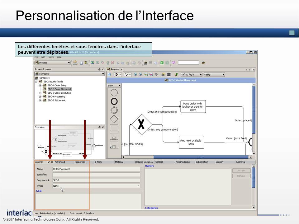 Personnalisation de l'Interface