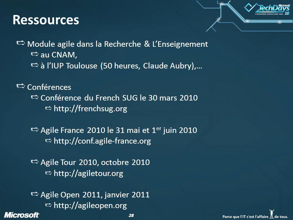 Ressources Module agile dans la Recherche & L'Enseignement au CNAM,