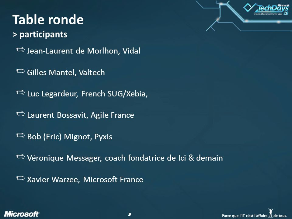 Table ronde > participants