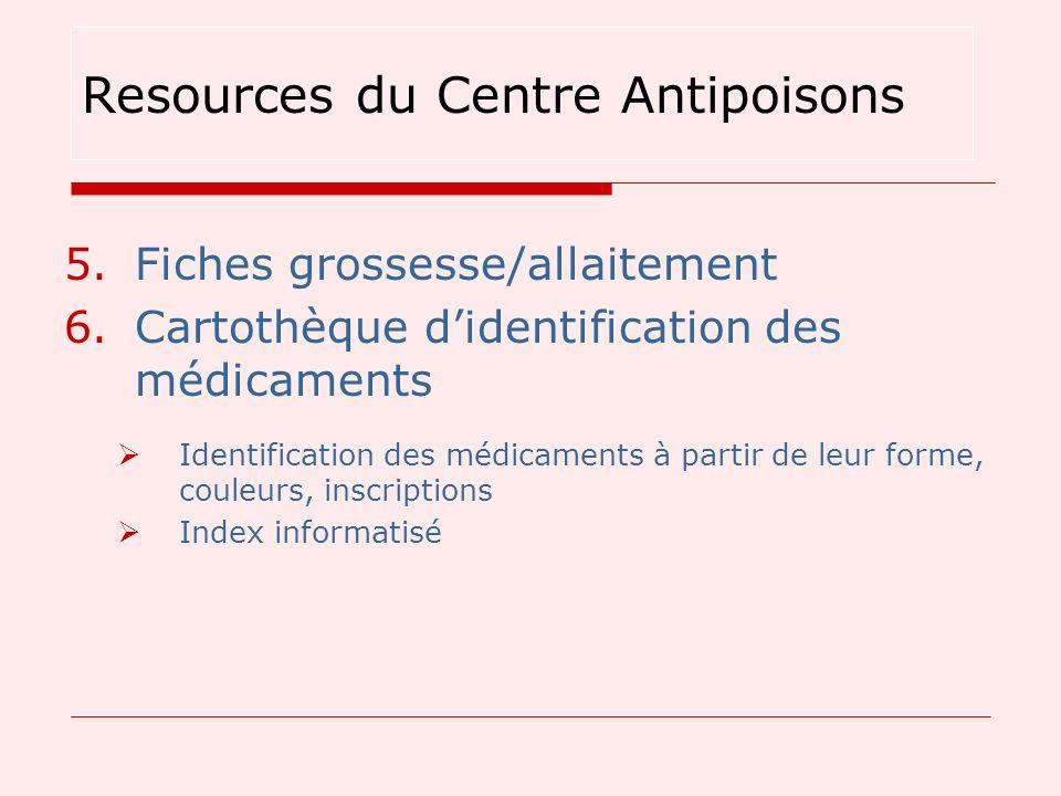 Resources du Centre Antipoisons