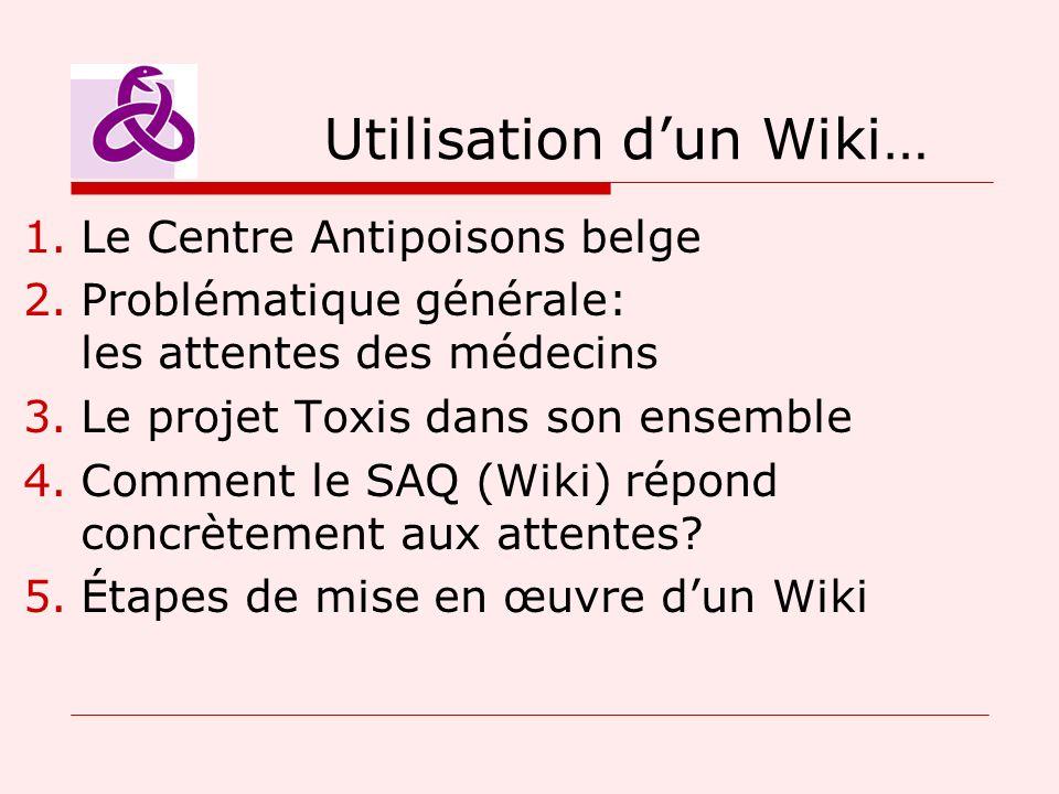 Utilisation d'un Wiki…