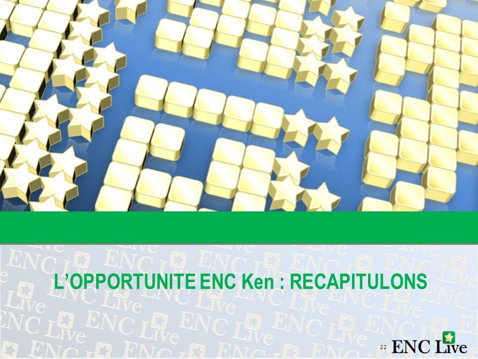 L'OPPORTUNITE ENC Ken : RECAPITULONS