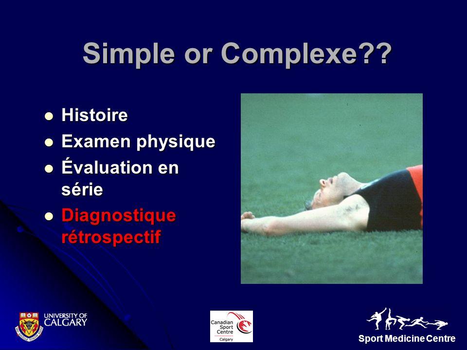 Simple or Complexe Histoire Examen physique Évaluation en série