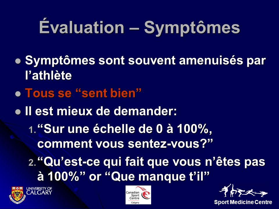 Évaluation – Symptômes