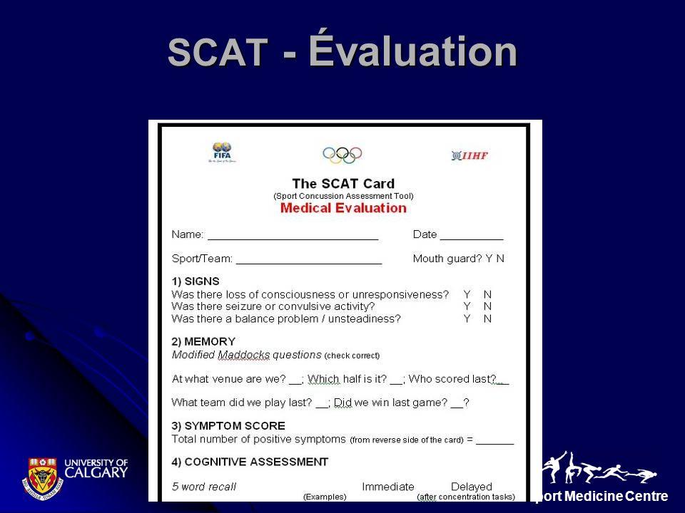 SCAT - Évaluation