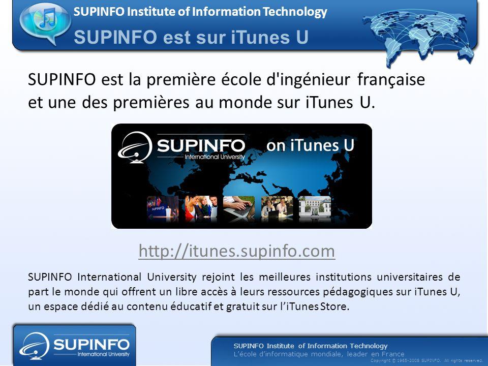 SUPINFO est sur iTunes U