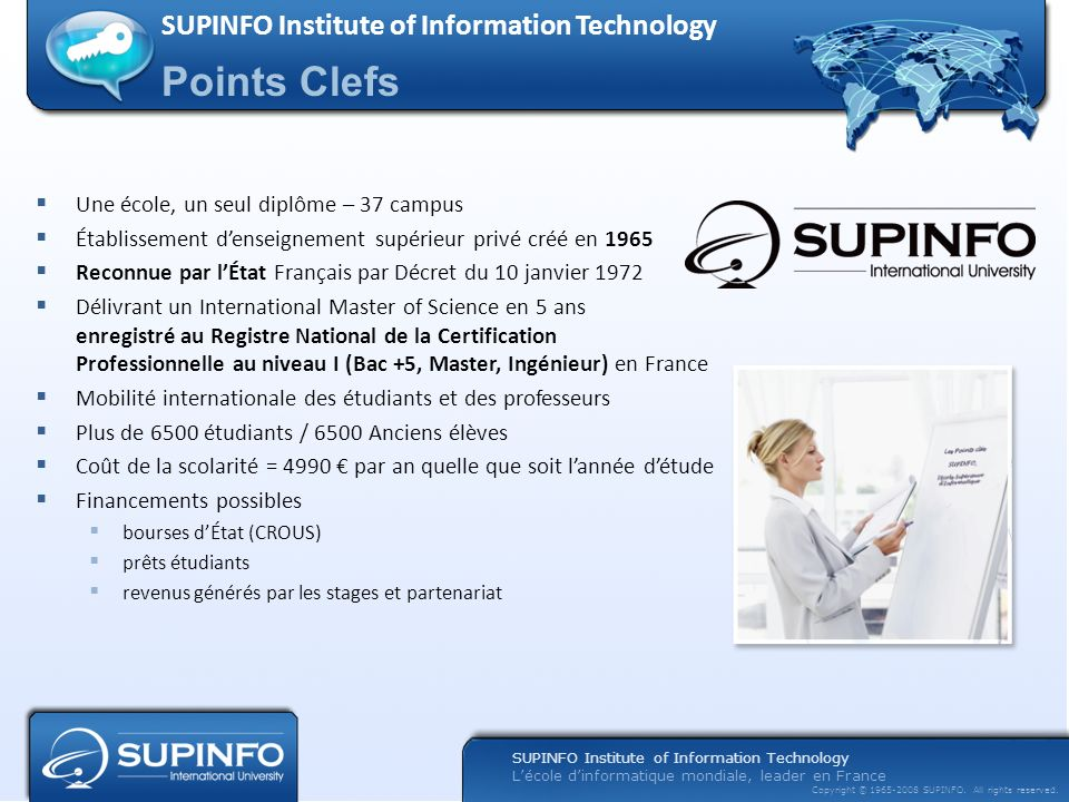Points Clefs SUPINFO Institute of Information Technology